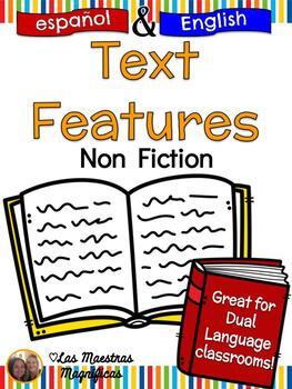 Nonfiction Text Features Surgery Bilingual Bundle