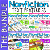 Nonfiction Text Features Posters, Activities, Game, Book BUNDLE