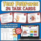 Nonfiction Text Features: FREE Task Cards with Distance Learning Option