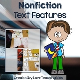 Nonfiction Text Features- Task Cards, Workstation Activities, and Assessment