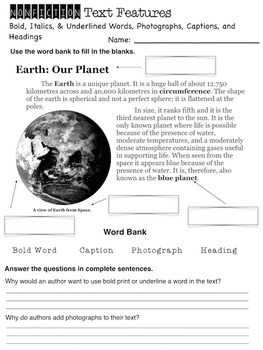 Nonfiction Text Features Unit {Interactive Book, Worksheets, and More!}