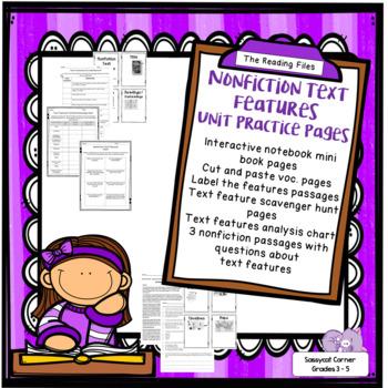 Nonfiction Text Features Unit Worksheets