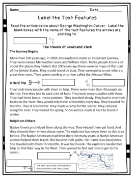 photo regarding Printable Nonfiction Articles With Text Features identified as Nonfiction Words and phrases Options System Worksheets