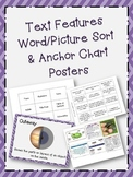 Nonfiction Text Features Vocabulary Sort and Posters - 2nd, 3rd, 4th, 5th Grade