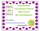Nonfiction Text Features Word Wall Cards
