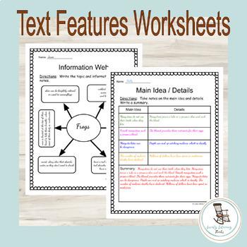 Nonfiction Text Features Worksheets