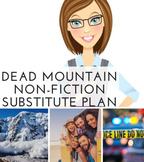 "Nonfiction Text Features Worksheets Sub Plan ""Dead Mountai"