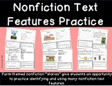 Nonfiction Text Features- Farm Themed Worksheets to Practice