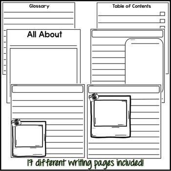 Nonfiction Text Features - Writing Templates For Target Mini Books