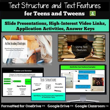 Text Features and Text Structure: Nonfiction Activities for Teens and Tweens!