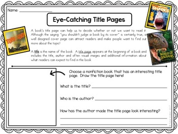 Nonfiction Text Features and Structures