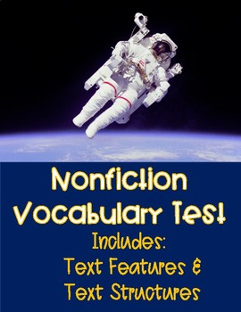 Nonfiction Text Features and Structures Vocabulary Quiz