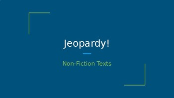 Nonfiction Text Features and Text Structures Quiz Game