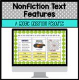 Nonfiction Text Features for Google Classroom Slides Digit