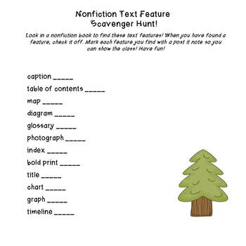 Nonfiction Text Features for Primary Grades