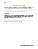 Nonfiction Text Features worksheet, 7th Grade, Common Core