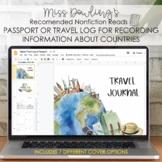 Nonfiction Text Global Citizen Passport and Travel Log