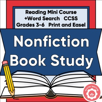 Nonfiction Mini-Course: Genre Study And Book Report CCSS Grades 3-6