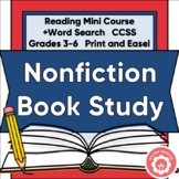 Nonfiction Reading Mini-Course CCSS Grades 3-6 Print or Di