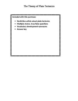 Nonfiction Text-Plate Tectonics