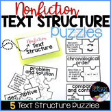 Nonfiction Text Structure Activity | 5 Nonfiction Text Structure Puzzles