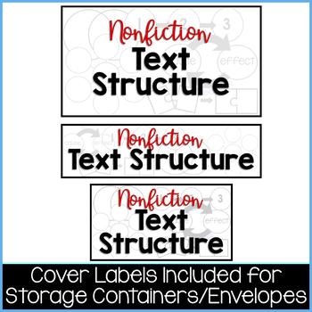 Nonfiction Text Structure Activity | 5 Nonfiction Text Structure Puzzles