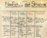 Nonfiction Text Structure Anchor Chart