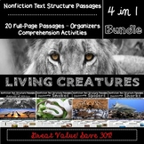Nonfiction Text Structure Bundle: 20 Full-Page Passages