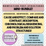 Nonfiction Text Structure Bundle: Paragraph Analysis, Assessments, Task Cards
