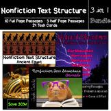 Nonfiction Text Structure Bundle (Passages and Task Cards)