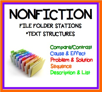 Nonfiction Text Structure Classroom Stations