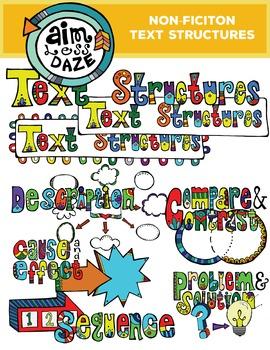 Nonfiction Text Structure Clip Art