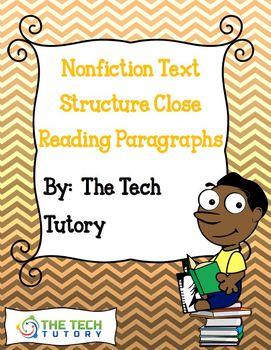 Nonfiction Text Structure Close Reading Paragraphs