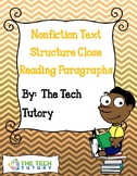 Nonfiction Text Structure Close Reading Paragraphs
