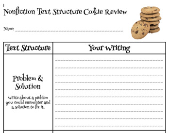 Nonfiction Text Structure Cookie Review