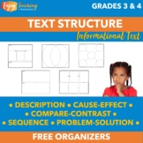 Free Informational Text Structure Organizers for Fourth Grade and Fifth Grade