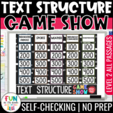 Nonfiction Text Structure Game Show {LEVEL 2} | Distance Learning