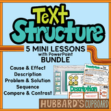 Nonfiction Text Structure Mini-Lessons Bundle w/ PowerPoint and Student Handouts