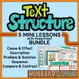 Nonfiction Text Structure Mini-Lessons Bundle w/ PowerPoin