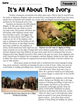 Nonfiction Text Structure Passages: Animals of Africa!