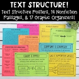 Nonfiction Text Structure Passages, Graphic Organizers, an