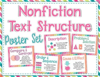 Nonfiction Text Structure Poster Set
