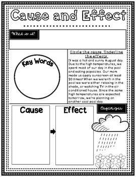 Nonfiction Text Structure Posters (students fill in)