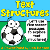 Informational Text Structures PowerPoint with Distance Lea