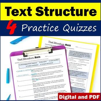 Nonfiction Text Structure Practice Quizzes