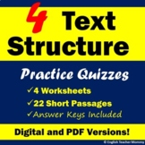 Nonfiction Text Structure Worksheets - Printable & Digital