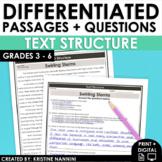 Nonfiction Text Structure - Reading Comprehension Passages