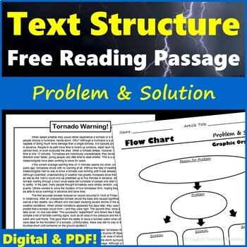 Nonfiction Text Structure Passage - Tornado Warning!
