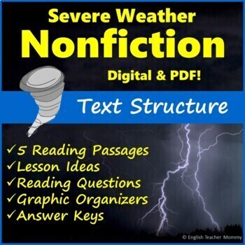 Nonfiction Text Structure Passages Hurricanes And Tornadoes Tpt