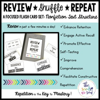 Nonfiction Text Structure {Review, Shuffle, Repeat Flash Card Set}